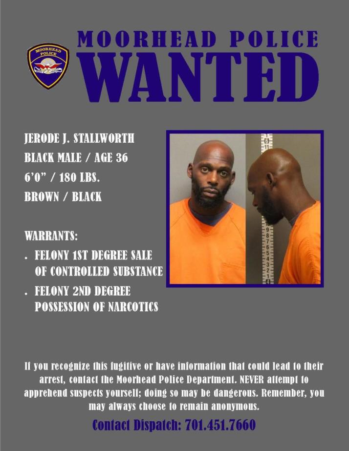 Wanted Wednesday May 31 - Stallworth