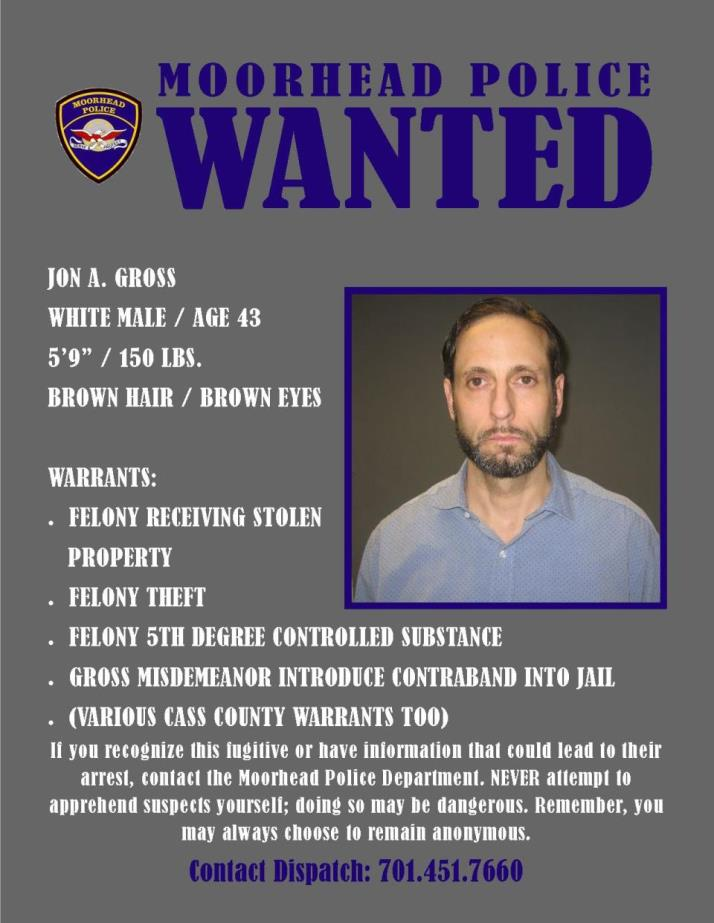 Wanted Wednesday May 9 - Gross