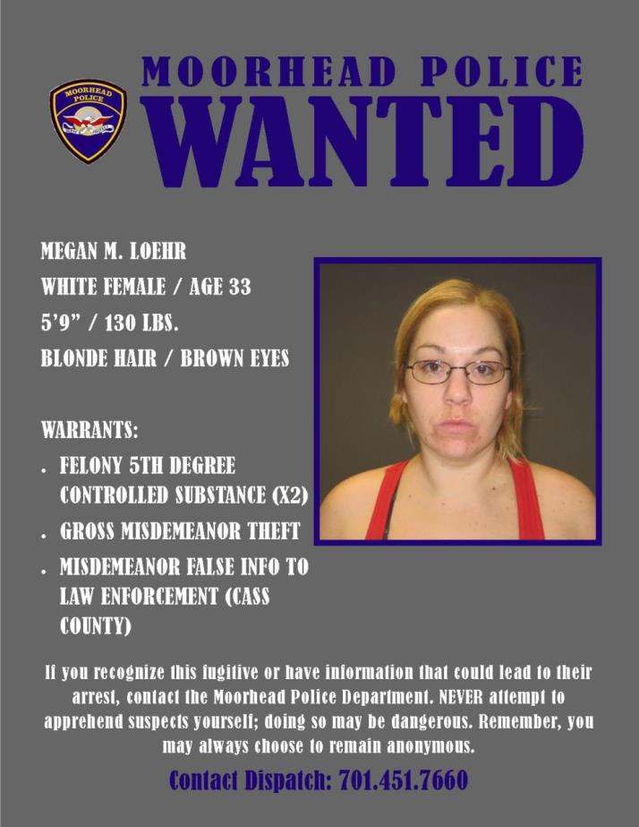 Wanted Wednesday May 30 - Loehr