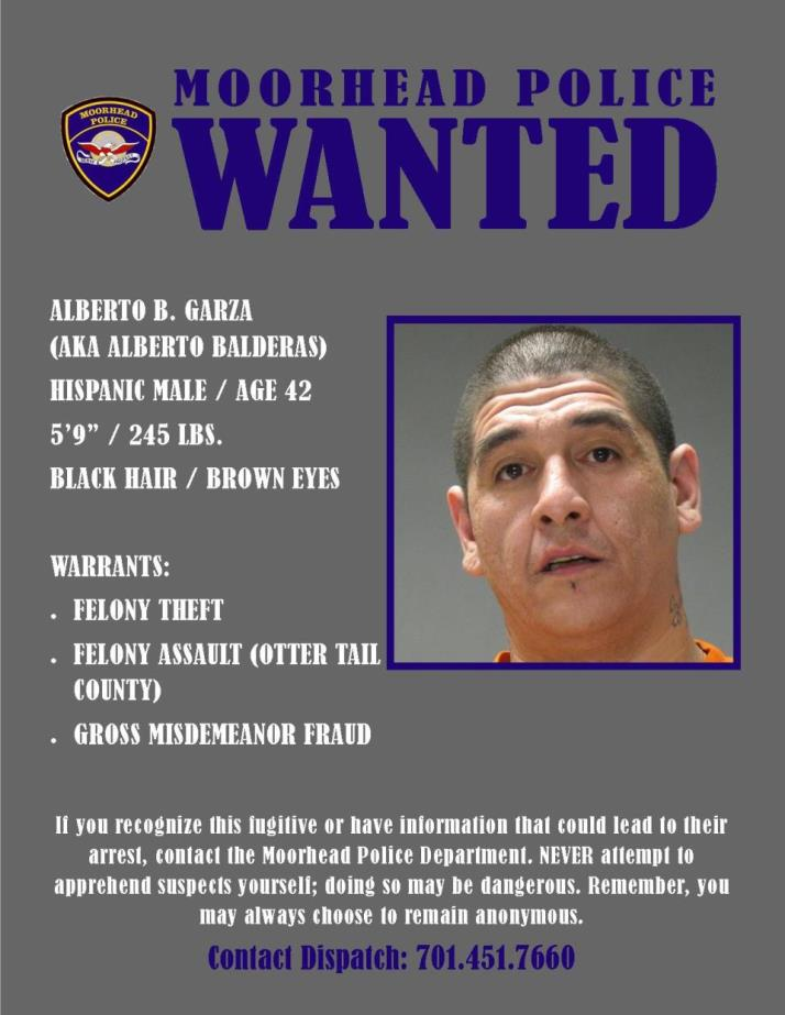 Wanted Wednesday July 4 - Garza