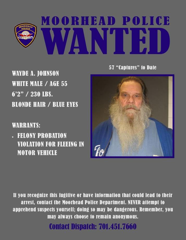 Wanted Wednesday November 21 - Johnson