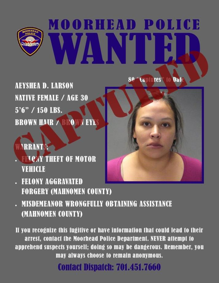 Wanted Wednesday April 17 - Larson