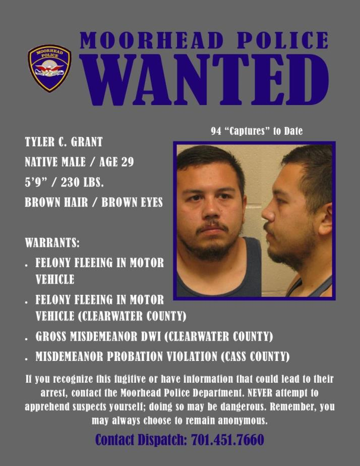 Wanted Wednesday August 7 - Grant